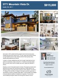 001 Home For Sale Flyer Template Zillow Real Estate