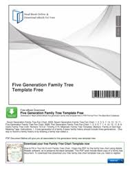 Free Editable Family Tree Template Forms Fillable