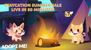 Последние твиты от adopt me! Adopt Me On Twitter The Staycation Summer Sale Will Be Live In 30 Minutes Https T Co Uwwmltng8y