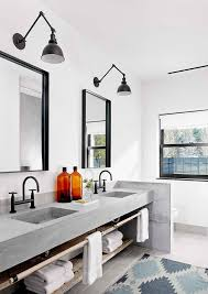 industrial bathroom lighting. lakefront austin house by aamodt plumb architects lighting for bathroomsbeach industrial bathroom