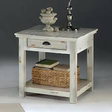 distressed white table. Distressed End Tables Willow Table White Diy R