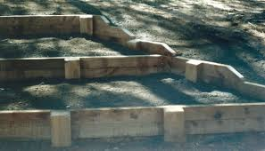 Small Picture Sleeper Retaining Walls How to build them correctly