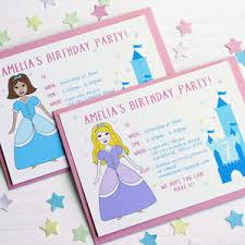 Princess Personalised Birthday Party Invitations By Superfumi