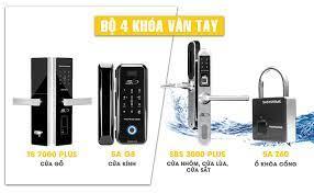 QC] Bộ 4 khoá vân tay chống nước dành cho cửa nhôm, cửa lùa, cửa sắt, cửa  gỗ,…