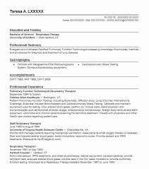 Respiratory Therapist Job Description Classy Pulmonary Function Technologist Respiratory Therapist Resume