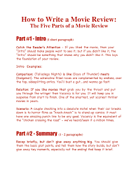 How To Write A Movie Review How To Write A Movie Review