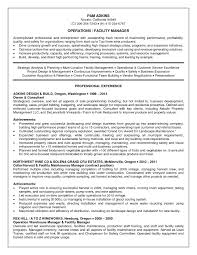 Warehouse Manager Resume Sample Operations Manager Resume Sample Pdf Sidemcicek Com Maintenance 43