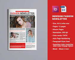 newsletter template for pages newsletter template etsy