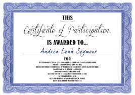 Sample Certificate Of Participation Template Examples