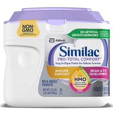 Baby Food Stages Chart Similac Pro Total Comfort
