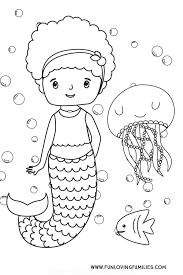 The mermaid luchia in a bathtub. 6 Cute Mermaid Coloring Pages For Kids Free Printables Fun Loving Families
