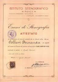file diploma istituto stenografico monza jpg  file 1935 diploma istituto stenografico monza jpg
