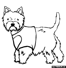 Small Picture West Highland White Terrier Coloring Page Free West Highland