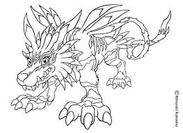 Small Picture Garurumon coloring pages Hellokidscom