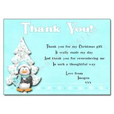 12 Artic Penguin - Christmas Thank You Note