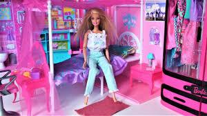 Barbie Doll bedroom dollhouse pink bathroom toy play Barbie baby ...