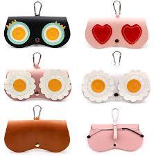 2019 <b>SOOLALA Unique PU Leather</b> Clip Glasses Bag Multi Function ...