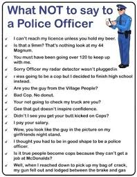 Police Officer Quotes Stunning What Not To Say To A Police Officer Funny Pictures Quotes Pics