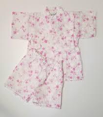 Sakura Designs Coupon Code Girls New Cotton Jinbei White With Pink Sakura Cherry