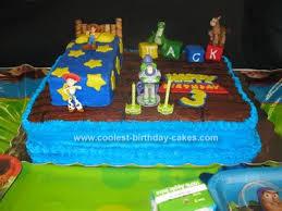 Cool Homemade Toy Story Scene Birthday Cake