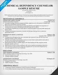 resume examples chemical dependency counselor httpresumecompanioncom nurse vocational counselor resume