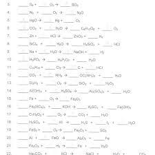 balancing equations worksheet answers com