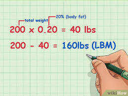 Lbm Chart How To Determine Lean Body Mass 6 Steps With Pictures