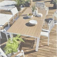 Stunning Table De Jardin Blanc Et Bois Images Amazing House