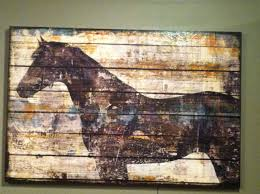 Ballard Designs Horse Art Horse Painting On Old Wood Rustic Art Outdoor Art Horse