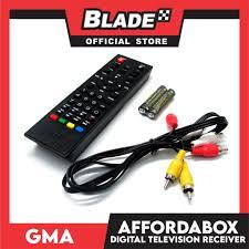 GMA Affordabox Digital TV Receiver for Digital Television Broadcast –  blade.ph
