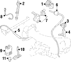 parts com® mitsubishi emission system emission system egr valve 2003 mitsubishi montero sport xls v6 3 5 liter gas egr system
