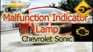 Chevy Sonic Lights On Dash Malfunction Indicator Lamp Chevrolet Sonic