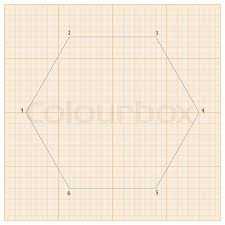 Graph Paper For Geometric Calculations For The Background Design