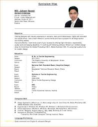 Simple Resume Format Pdf Or 10 Sample Cv For Job Application Pdf
