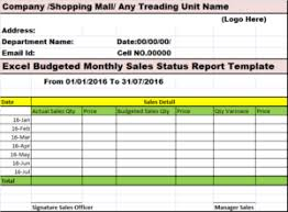 Excel Monthly Report Template Excel Word Templates