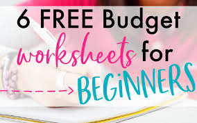 Free Printable Monthly Budget Printable Budget Worksheets 6 Free Templates For Beginners