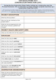Method Of Statement Sample Ideas Of Cdm Regulations 100 Safety Plan Cpp Template with Method 95