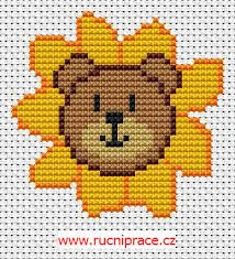 Bear With Sunflowers Cross Stitch Pattern Download Free