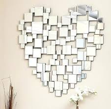 Small Picture Heart Shape Modern Decorative Wall Mirrors Venetian Large Silver