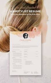 best images about hair stylist stylists creative resume template instant cover letter format ms word and photoshop bonus business card hairstylist