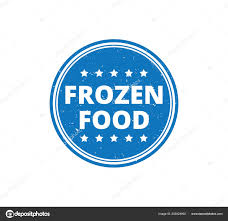 Food Product Label Design Template Round Frozen Food Product Label Grunge Textured Vector