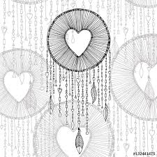 Dream Catchers Sketches Vector dream catcher with heart shape illustration and transparent 78