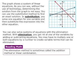 algebra 2 3 2 using algebraic methods to solve linear systems