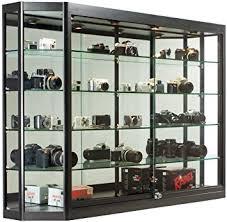 glass display cabinet illuminated