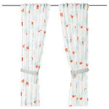 stjÄrnbild curtains with tie backs 1 pair white length 98 width