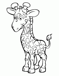 Small Picture Tall Giraffe Coloring Page H M Coloring Pages