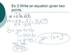 writing an equation in slope intercept form with no y intercept given