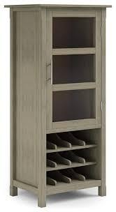 tall sideboard wine rack and door