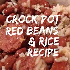 crock pot red beans rice