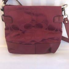 Coach Signature 24cm Chain Duffle Shoulder Bag 18862 NWT Silver Cranberry  New